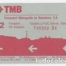 Coleccionismo Billetes de transporte: BILLETE/TARJETA TRANSPORTE FERROCARRIL METROPOLITÁ BARCELONA, TMB ( SARRIÁ-TIBIDABO. Lote 98789167