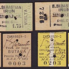 Coleccionismo Billetes de transporte: CONJUNTO BILLETES DE TREN ANTIGUOS. FERROCARRILES ESPAÑOLES.. Lote 97724831