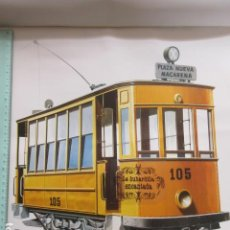 Coleccionismo Billetes de transporte: LAMINA TRANVIA DE SEVILLA CONSTRUIDO POR CARDE Y ESCORIAS ZARAGOZA 1929 - 1960. Lote 163827476