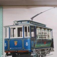 Coleccionismo Billetes de transporte: LAMINA TRANVIA AZUL DE BARCELONA TIBIDABO CONSTRUIDO POR ESTRADA 1904. Lote 99218255