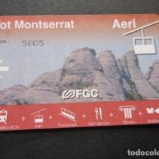 Coleccionismo Billetes de transporte: TARJETA TOT MONTSERRAT AERI AEREO FERROCARRILES GENERALITAT. Lote 179524942