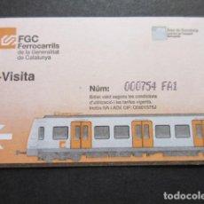Coleccionismo Billetes de transporte: TARJETA FERROCARRILES GENERALITAT T-VISITA. Lote 99436603
