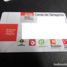 Coleccionismo Billetes de transporte: TARJETA PLASTICO TARRAGONA. Lote 100299000