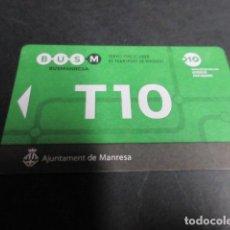 Coleccionismo Billetes de transporte: TARJETA T10 MANRESA. Lote 99886423