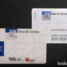 Coleccionismo Billetes de transporte: TARJETA PLASTICO ATM GIRONA MODELO TELEFONO ATENCION AL CLIENTE 900. Lote 100300663