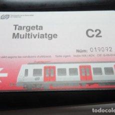 Coleccionismo Billetes de transporte: TARJETA FERROCARRILES GENERALITAT C2. Lote 100300727