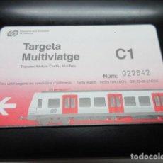 Coleccionismo Billetes de transporte: TARJETA FERROCARRILES GENERALITAT C1. Lote 100300747