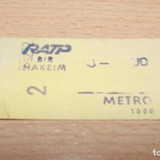 Coleccionismo Billetes de transporte: BILLETE DE METRO DE PARIS - RATP . Lote 100456523