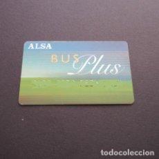 Coleccionismo Billetes de transporte: TARJETA PLASTICO AUTOBUSES ALSA BUS PLUS. Lote 100586687