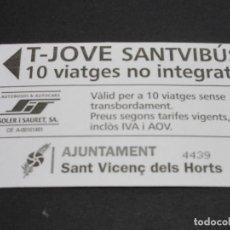 Coleccionismo Billetes de transporte: TARJETA T-JOVE 10 VIAJES. Lote 100590927