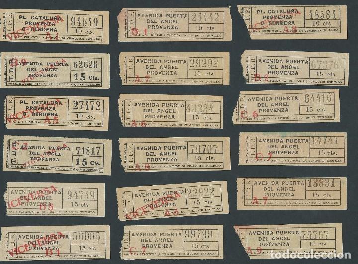 LOTE BILLETES TRANVIA BARCELONA TICKET BILLETE CAPICUA (Coleccionismo - Billetes de Transporte)
