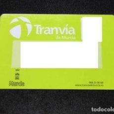 Coleccionismo Billetes de transporte: TARJETA PLASTICO TRANVIA DE MURCIA. Lote 101088623