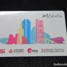 Coleccionismo Billetes de transporte: TARJETA PLASTICO MOBILIS METRO Y AUTOBUSES DE VALENCIA . Lote 101088771