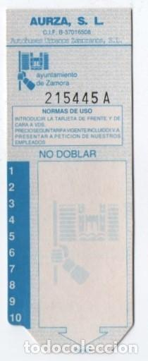 (ALB-TC-9) BONO BUS AUTOBUS NUEVA AUTOBUSES URBANOS ZAMORANOS (Coleccionismo - Billetes de Transporte)