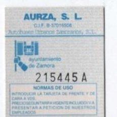 Coleccionismo Billetes de transporte: (ALB-TC-18) BONO BUS AUTOBUS NUEVA AUTOBUSES URBANOS ZAMORANOS. Lote 101410975