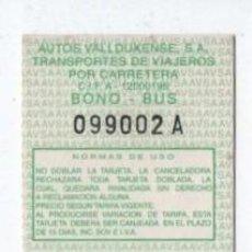 Coleccionismo Billetes de transporte: (ALB-TC-18) BONO BUS AUTOBUS NUEVA VALLDUXENSE. Lote 101411031