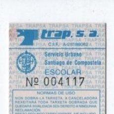 Coleccionismo Billetes de transporte: (ALB-TC-18) BONO BUS AUTOBUS NUEVA SANTIAGO DE COMPOSTELA. Lote 101411191