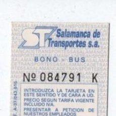 Coleccionismo Billetes de transporte: (ALB-TC-18) BONO BUS AUTOBUS NUEVA SALAMANCA. Lote 101411279