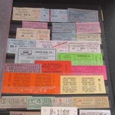 Coleccionismo Billetes de transporte: 378 BILLETES DIFERENTES, METRO AUTOBUS TRANVIAS MADRID BARCELONA ANDALUCIA AEREO MONTSERRAT FERROCAR. Lote 101750395