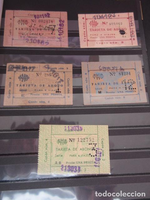 LOTE 5 TARJETAS ABONO DIFERENTES DEL FERROCARRIL METROPOLITANO DE BARCELONA TRANSVERSAL (Coleccionismo - Billetes de Transporte)