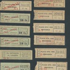 Coleccionismo Billetes de transporte: LOTE BILLETES TRANVIA BARCELONA TICKET BILLETE VARIADOS T.D.B. CAPICUA. Lote 102384499