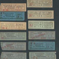 Coleccionismo Billetes de transporte: LOTE BILLETES TRANVIA BARCELONA TICKET BILLETE VARIADOS T.D.B. CAPICUA. Lote 102384575