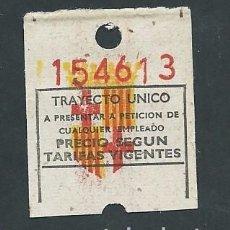 Coleccionismo Billetes de transporte: BILLETE TRANVIA BARCELONA TICKET BILLETE . Lote 102384883