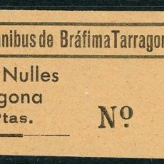 Collezionismo Biglietti di trasporto: BILLETE DE BRAFIM A TARRAGONA Y VICEVERSA // VILAVELLA, NULES, TARRAGONA //AÑOS 40 // T24. Lote 102544303