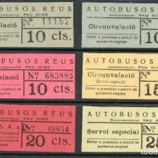 Coleccionismo Billetes de transporte: (L219) 2 BILLETES DE AUTOBUSOS REUS // AÑOS 30 // T37. Lote 119582046