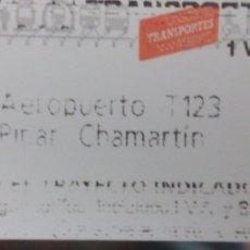 Coleccionismo Billetes de transporte: BILLETE DE METRO AEROPUERTO MADRID. Lote 102606062