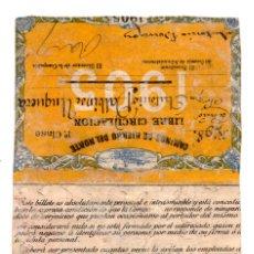 Coleccionismo Billetes de transporte: BILLETE FERROCARRILES. CAMINOS DE HIERRO DEL NORTE LIBRE CIRCULACIÓN. 1ª CLASE - 1905. Lote 103155219
