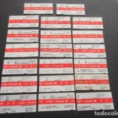 Coleccionismo Billetes de transporte: LOTE DE 20 BILLETES DIFERENTES RENFE CERNCANIAS DE MADRID DISTINTO ESTACIONES REVISA LA FOTO. Lote 103199267
