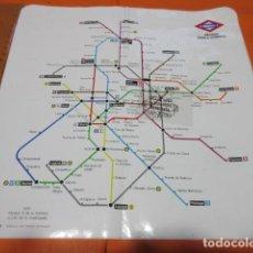 Coleccionismo Billetes de transporte: ANTIGUO PLANO DE METRO DE MADRID AÑO 1990 30 X 30 CM DE LOS QUE SE USABAN EN INTERIOR VAGON. Lote 103505587