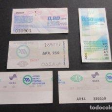 Coleccionismo Billetes de transporte: LOTE 5 BILLETES ATENAS GRECIA METRO // LEER INTERIOR - ARD-002. Lote 103762215