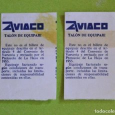 Coleccionismo Billetes de transporte: ANTIGUOS TALONES EQUIPAJE AVIACO. Lote 104802479