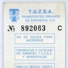 Coleccionismo Billetes de transporte: TARJETA RESISTIVA DE ZARAGOZA. Lote 105098023