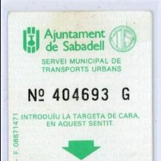 Coleccionismo Billetes de transporte: TARJETA RESISTIVA DE SABADELL. Lote 105098451