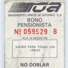 Coleccionismo Billetes de transporte: TARJETA RESISTIVA DE ASTURIAS. Lote 105103023