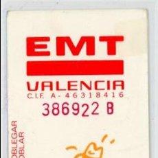 Coleccionismo Billetes de transporte: TARJETA RESISTIVA DE VALENCIA. Lote 105103399