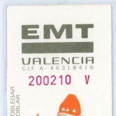 Coleccionismo Billetes de transporte: TARJETA RESISTIVA DE VALENCIA. Lote 105103447