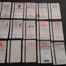 Coleccionismo Billetes de transporte: LOTE 15 TARJETAS FERROCARRIL METROPOLITANO BARCELONA METRO TRASERAS DIFERENTES. Lote 107484143