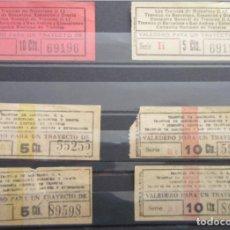Coleccionismo Billetes de transporte: 6 BILLETES CAPICUAS CAPICUA /// LOTE UNICO INCLUYE LOS MUY RARO COMPAÑIA NACIONAL DE TRANVIAS LEER. Lote 107718499