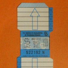 Coleccionismo Billetes de transporte: BONO BUS - BONOBUS - EMT - AUTOBUSES MADRID - 10 VIAJES - NUEVO SIN USAR - PRIMER MODELO - 50 PTS. Lote 107755271