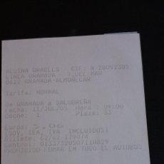 Coleccionismo Billetes de transporte: BILLETE AUTOBUS - ALSINA GRAELLS - GRANADA / SALOBREÑA ( 2005 ) #SB. Lote 107779507