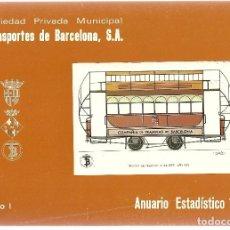 Coleccionismo Billetes de transporte: TRANSPORTES DE BARCELONA.ANUARIO 1972. Lote 108444719