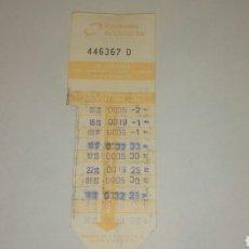 Coleccionismo Billetes de transporte: BONO 10 VIAJES BUS LLEIDA EMPRESA AUTOBUSOS DE LLEIDA SA. Lote 109092167