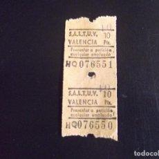 Coleccionismo Billetes de transporte: TRANSPORTE-V37-S.A.L.T.U.V.-VALENCIA. Lote 109145943
