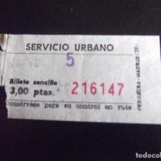 Coleccionismo Billetes de transporte: TRANSPORTE-V37-SERVICIO URBANO GUADALAJARA 1976-3 PESETAS. Lote 109146363