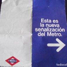 Coleccionismo Billetes de transporte: TRANSPORTE-V37-METRO-MADRID-NUEVA SEÑALIZACION. Lote 109147427