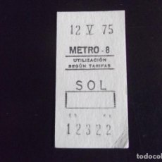 Coleccionismo Billetes de transporte: TRANSPORTE-V37-METRO-MADRID-BILLETE SENCILLO-1975. Lote 109149027